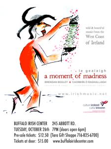Brendan Begley & Caoimhin O'Raghallaigh Concert poster
